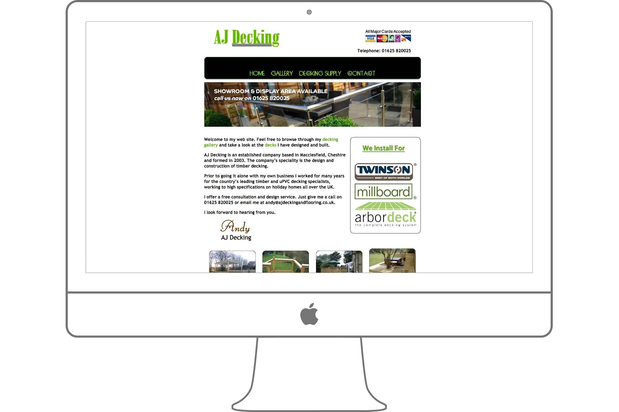 A J Decking Website by Big Decision