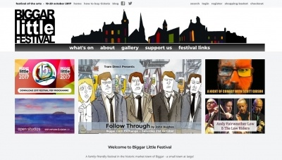 Biggar Little Festival Website by Big Decision