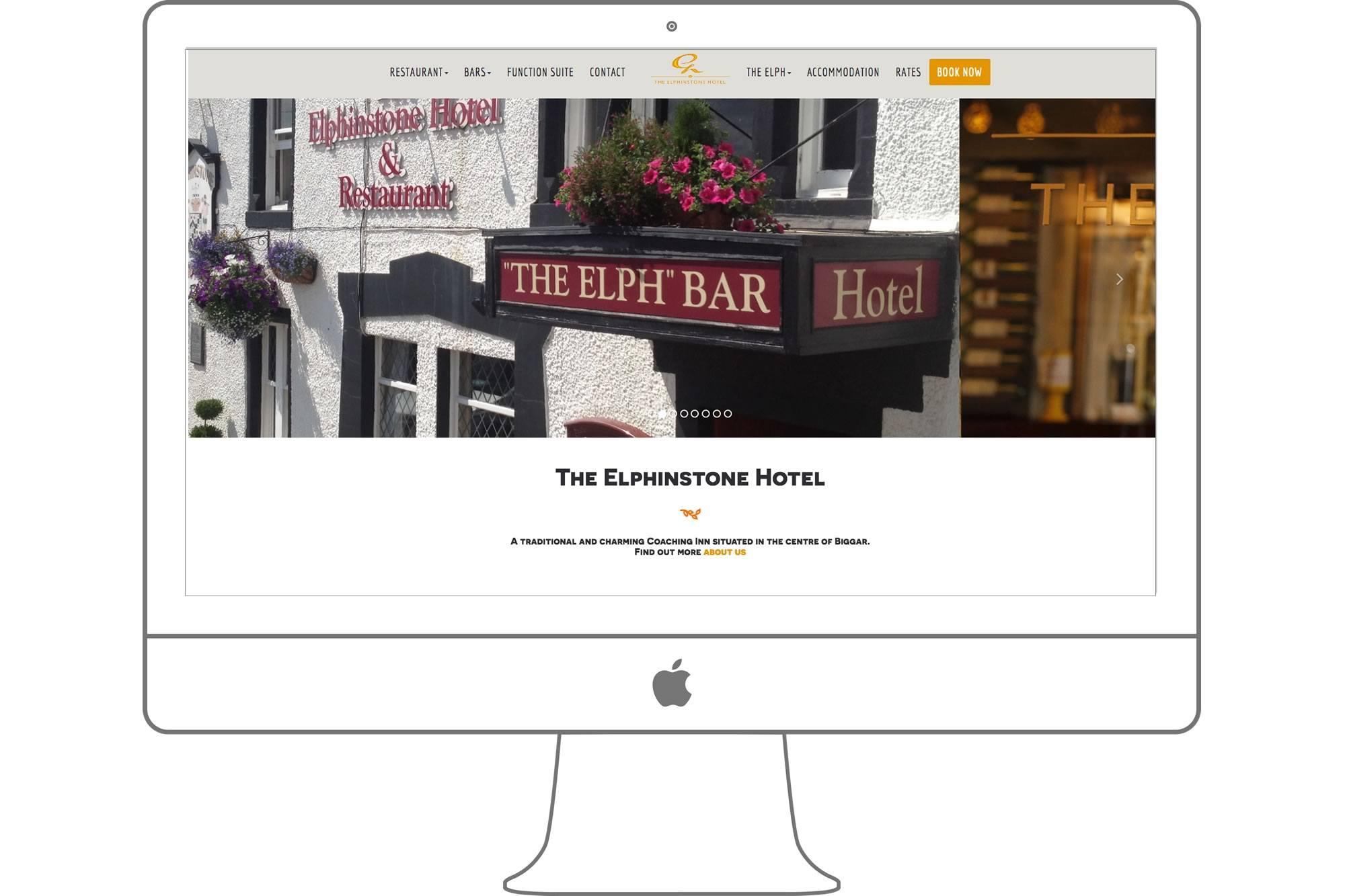 Elphinstone Hotel Website by Big Decision