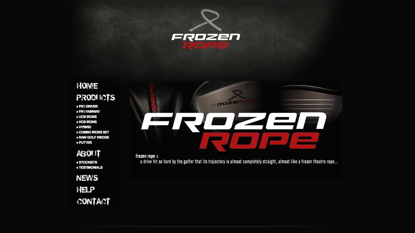 Frozen Rope Website by Big Decision