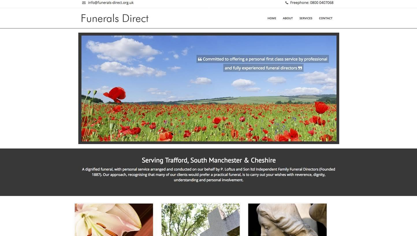 Funerals Direct Website by Big Decision