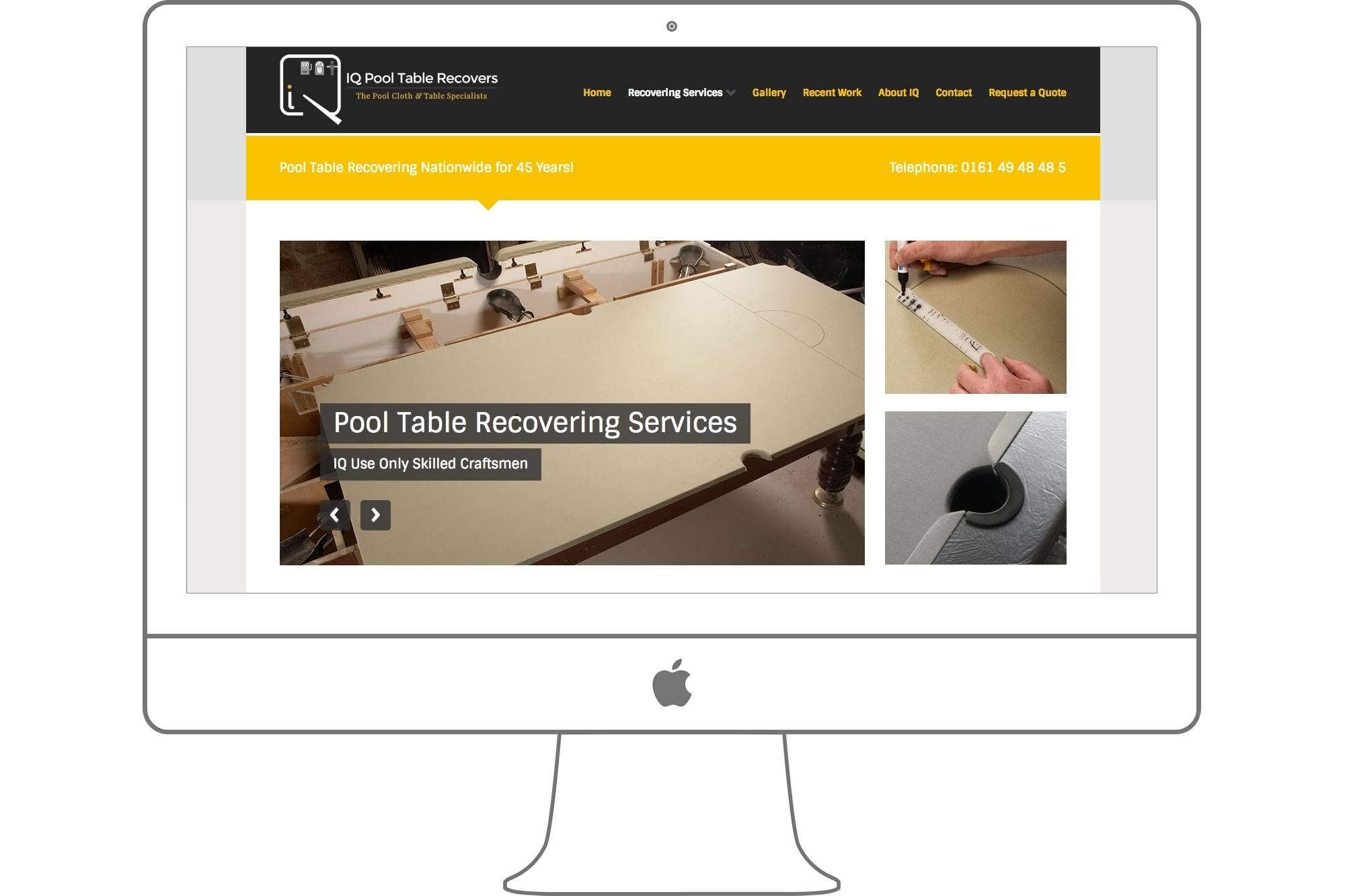 IQ Pool Table Recovers Website by Big Decision