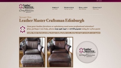 Leather Master Craftsman Website by Big Decision