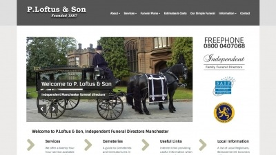 Loftus Funerals Website by Big Decision