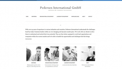 Pedersen International Website by Big Decision