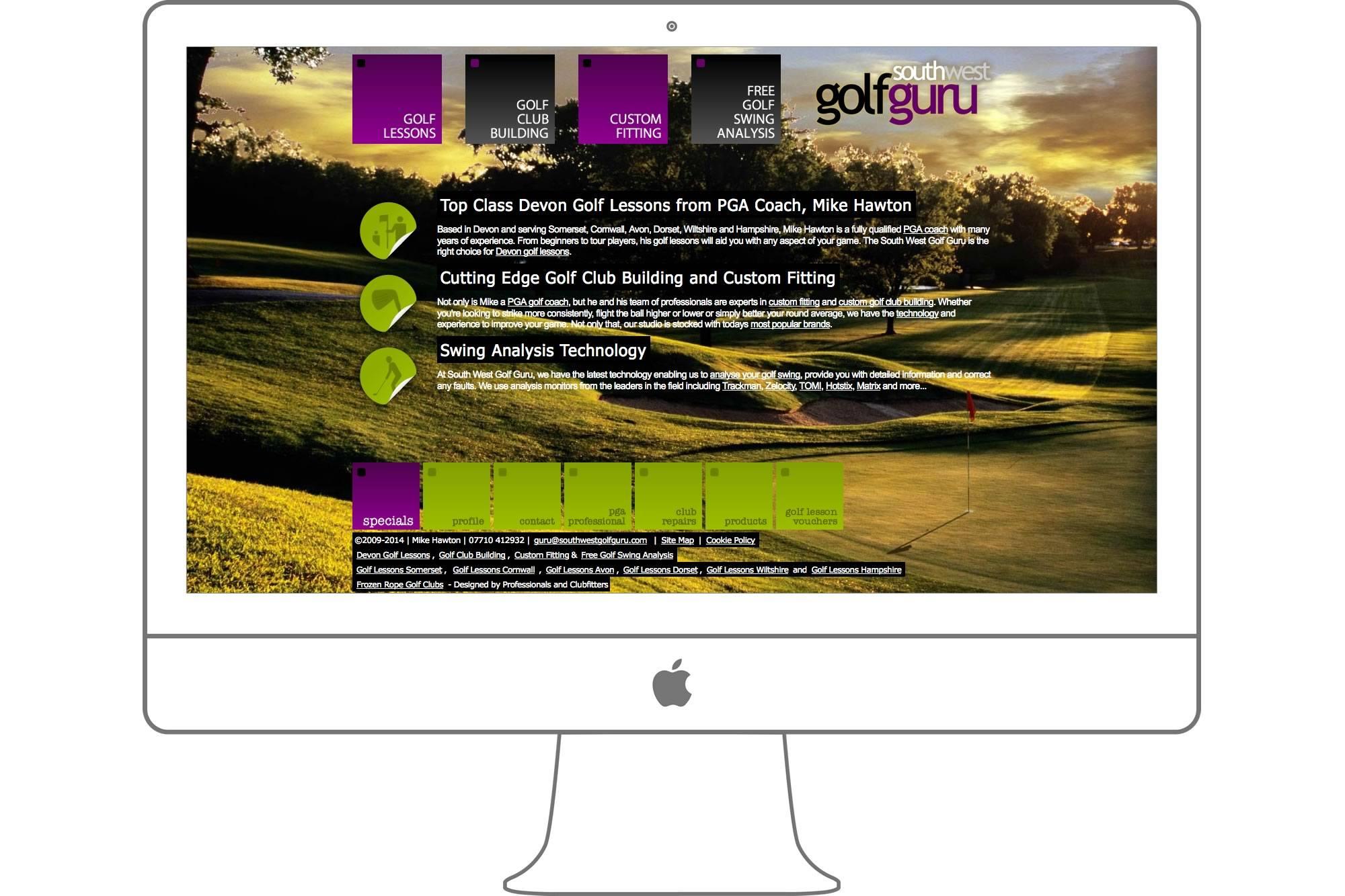 South West Golf Guru Website by Big Decision