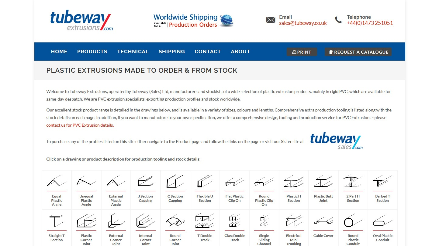 Tubeway Extrusions Website By Big Decision