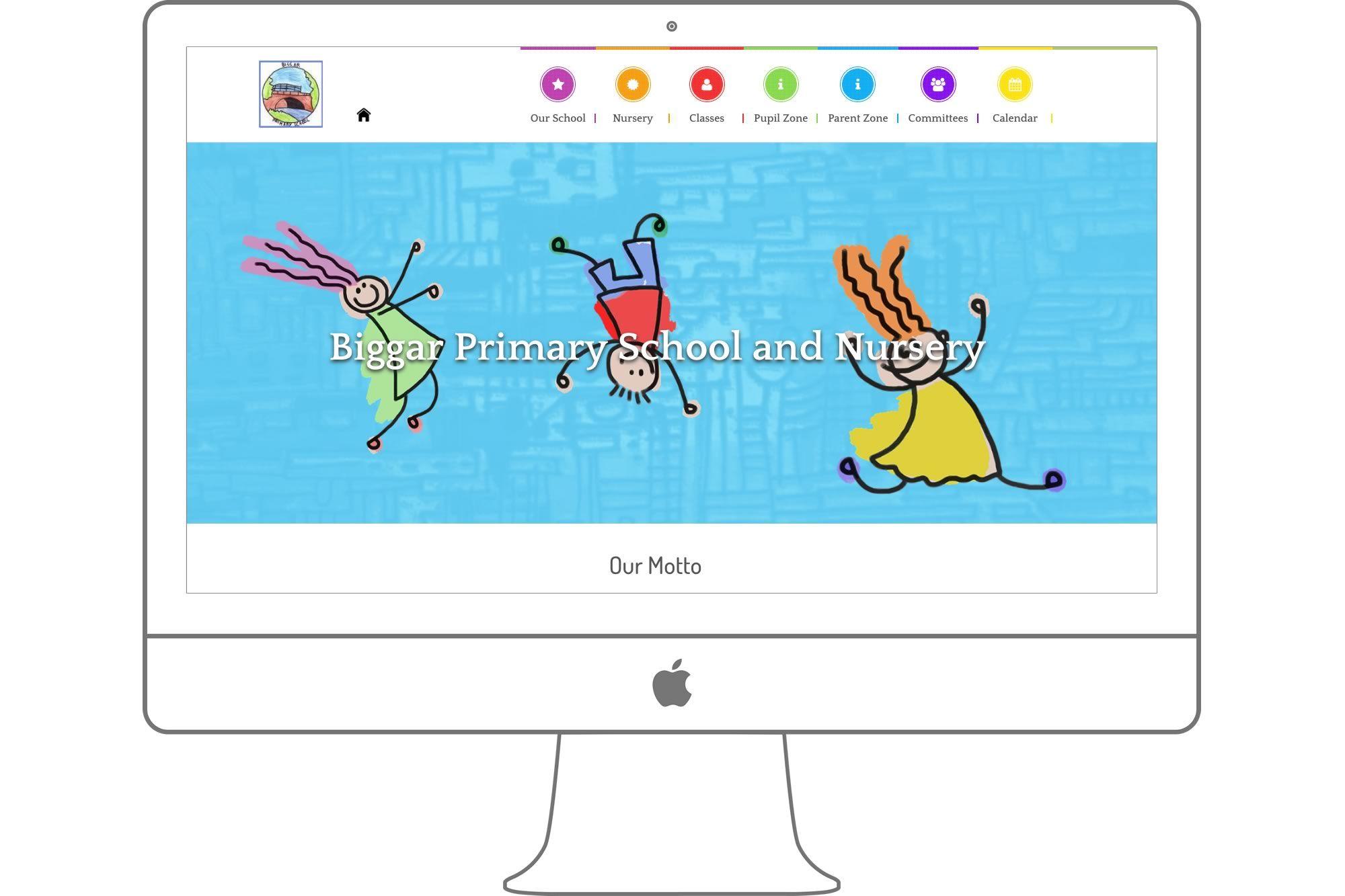 Biggar Primary School Website by Big Decision