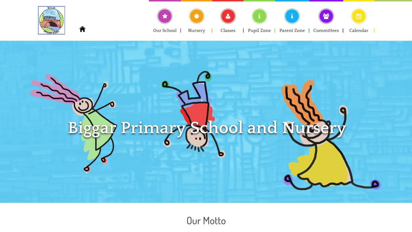 Biggar Primary School Website by Big Decision