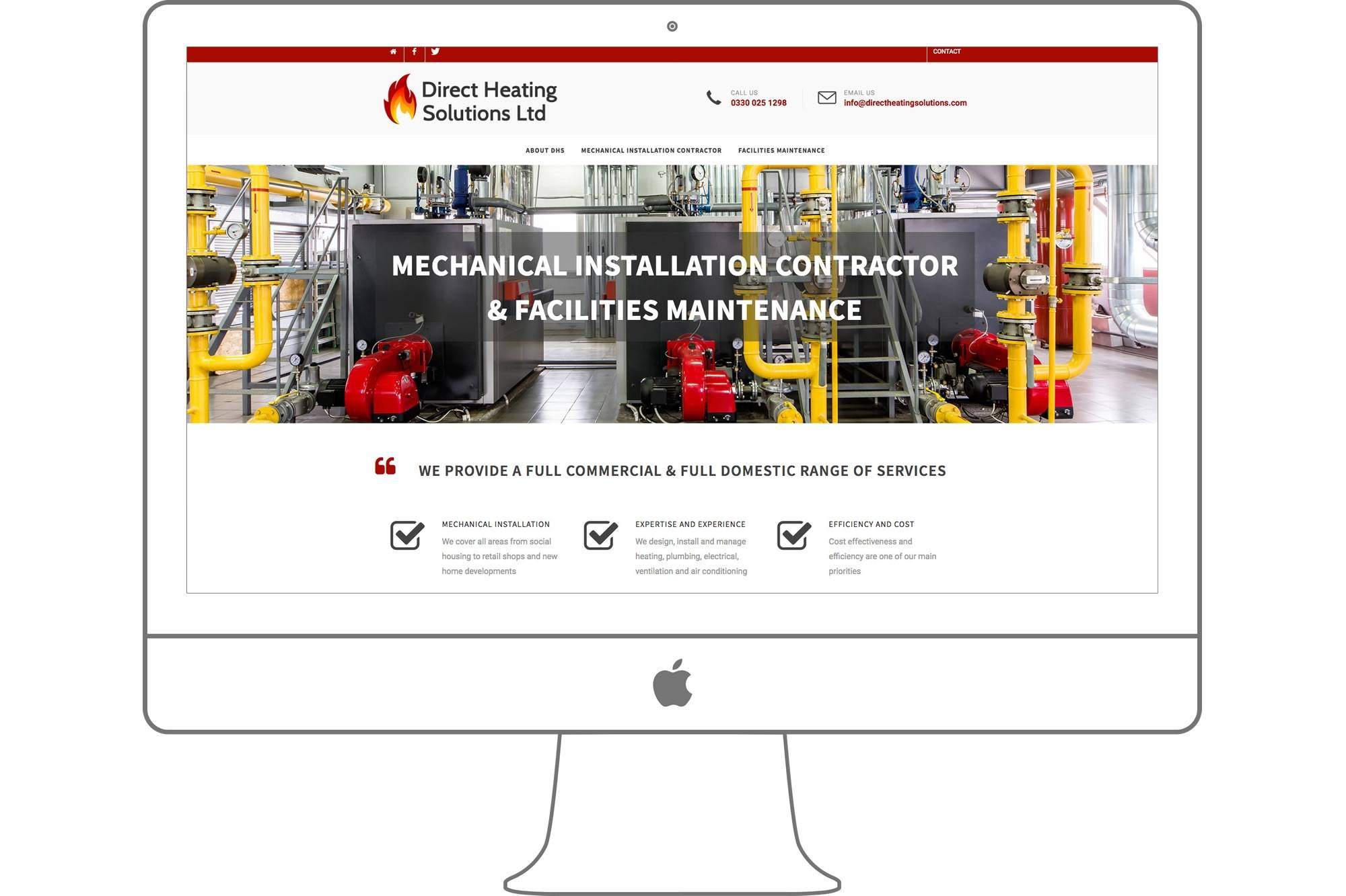 Direct Heating Solutions Ltd Website by Big Decision