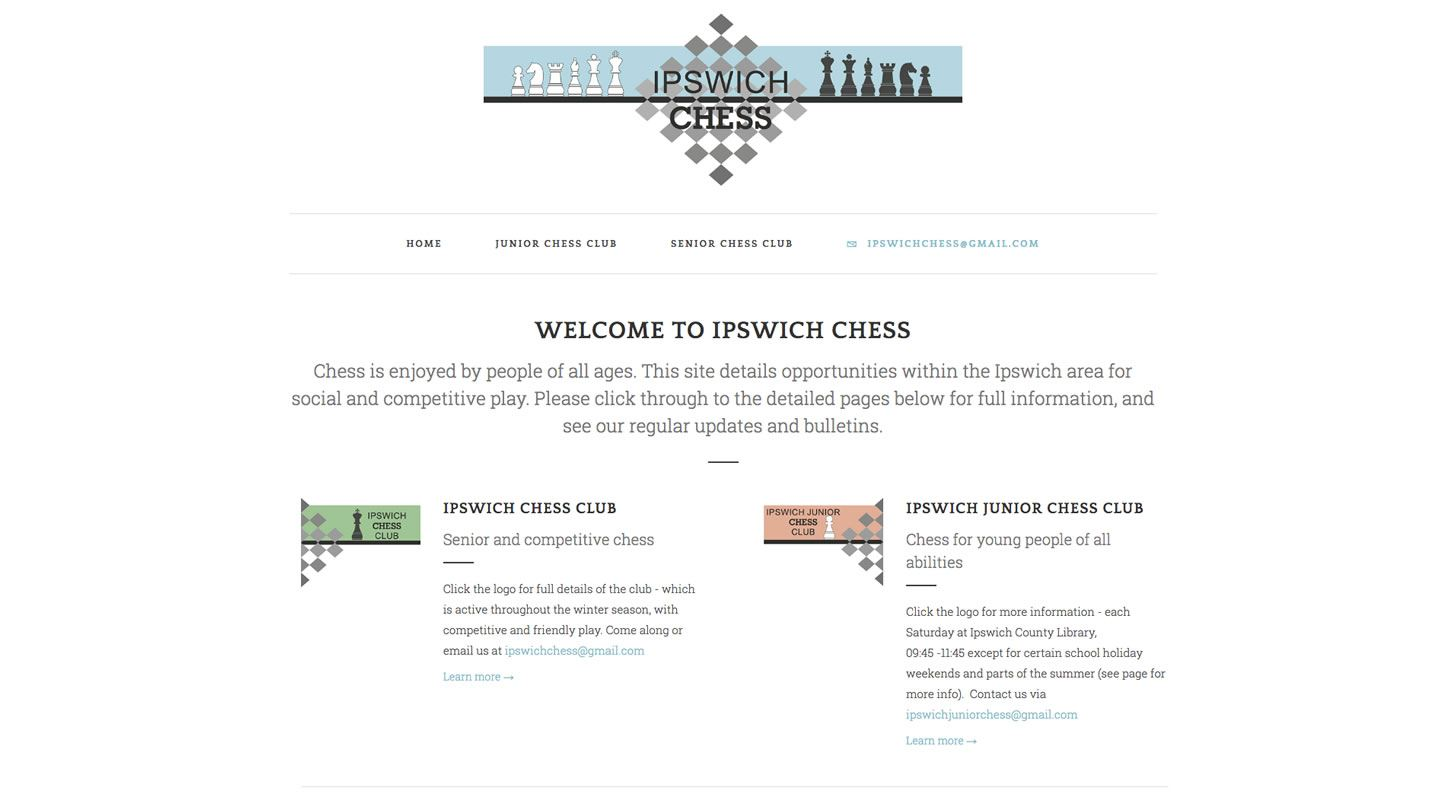 Ipswich Chess Website by Big Decision