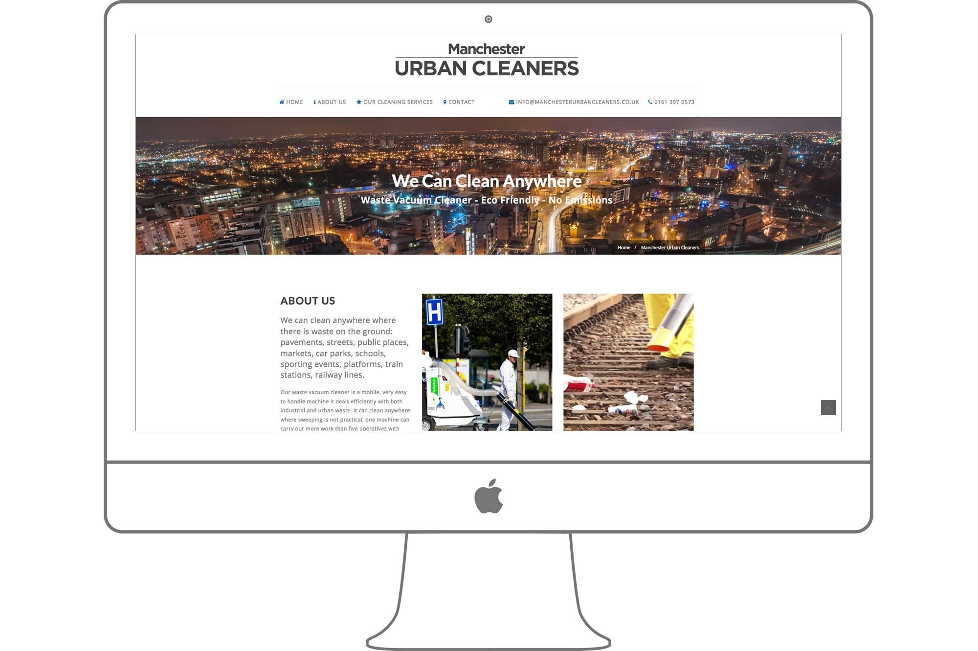 Manchester Urban Cleaners Website By Big Decision