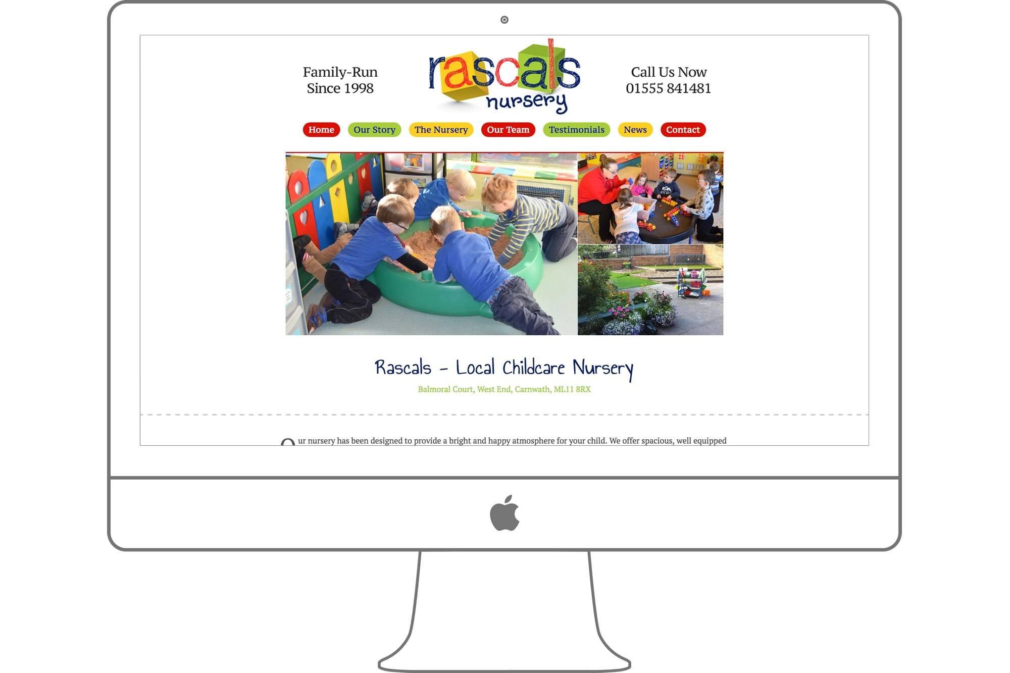 Rascals Nursery Website By Big Decision
