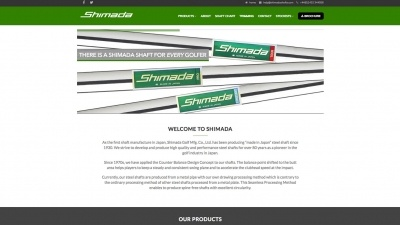 Shimada Shafts Website By Big Decision