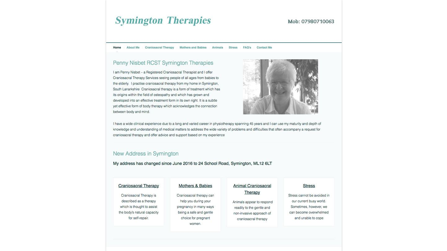 Symington Therapies Website by Big Decision