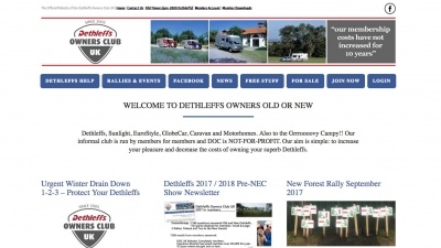 Dethleffs Owners Club UK Website by Big Decision