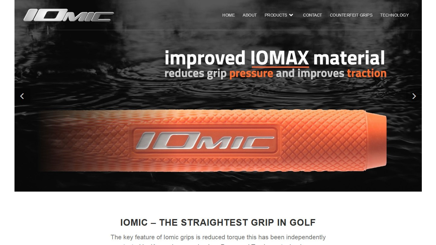 Iomic Grips Website By Big Decision