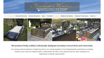 Manchester Memorials Website By Big Decision