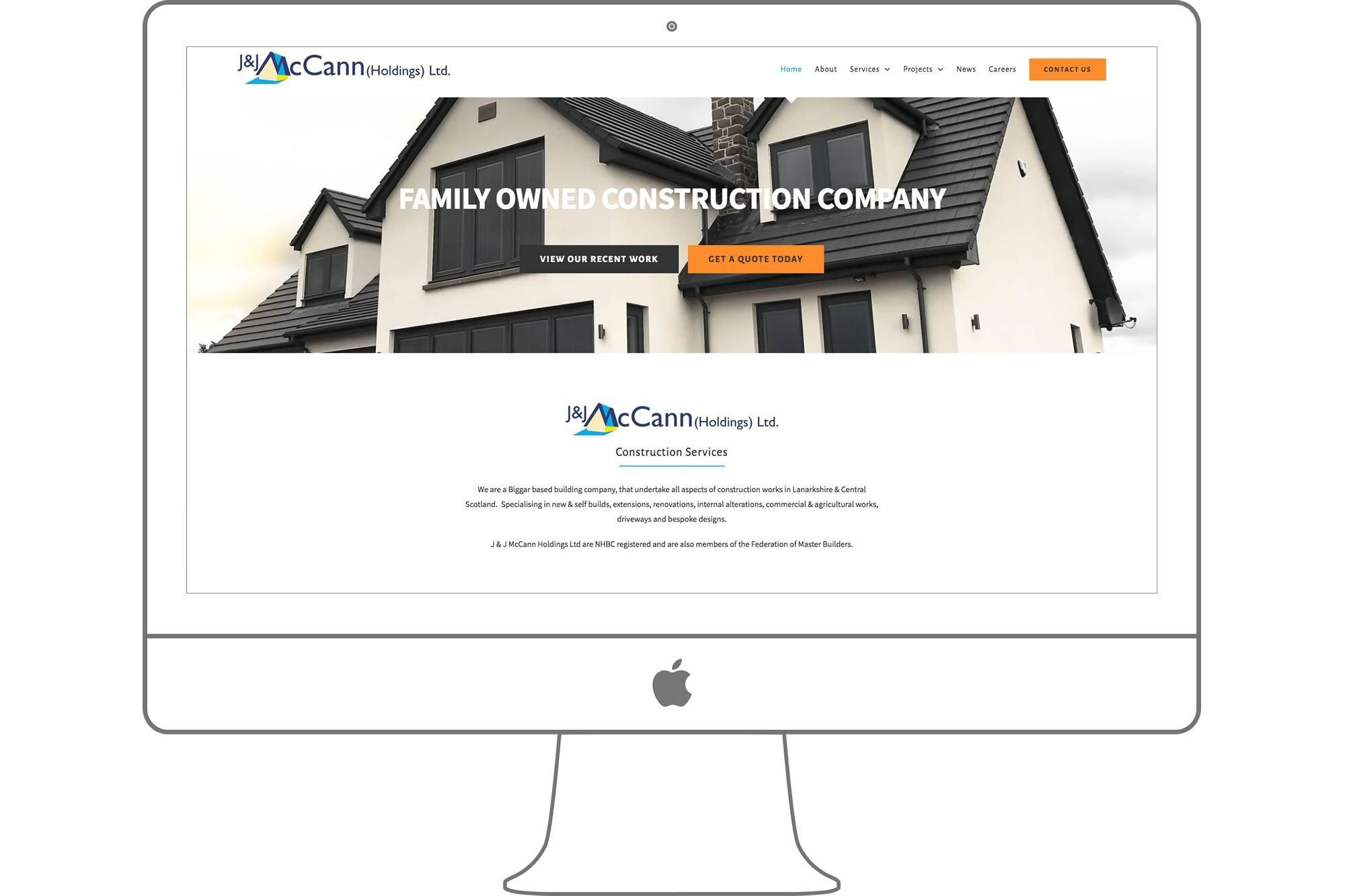 McCann Builders Website by Big Decision