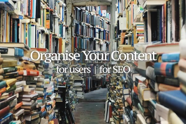 Organise your website content