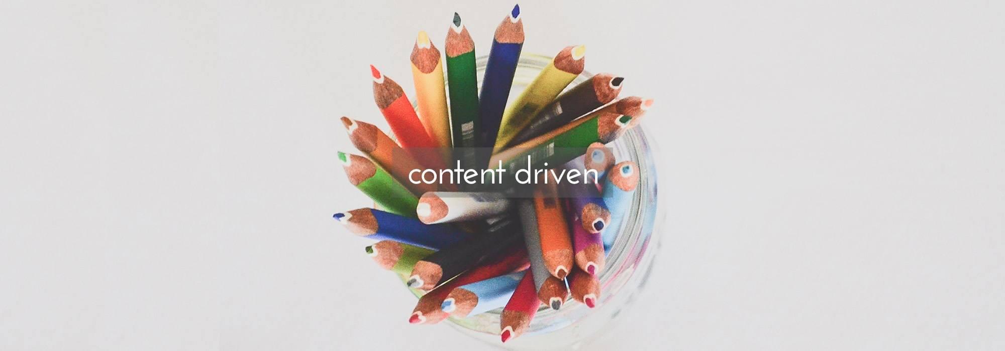 Content driven website